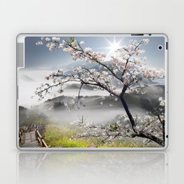 Japanese Cherry Landscape Laptop & iPad Skin