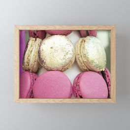 Gold and Pink Macarons Framed Mini Art Print