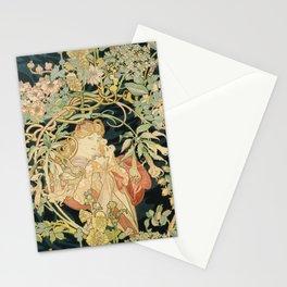 Alphons Mucha - Femme à la Marguerite Stationery Cards