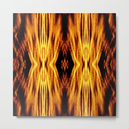 Flame Pattern Fire Astract Metal Print