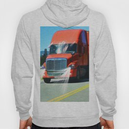 Big Red - Lorry Art for Truck-lovers and Truckers Hoody