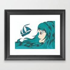 Poseidon Goddess of the Sea Framed Art Print
