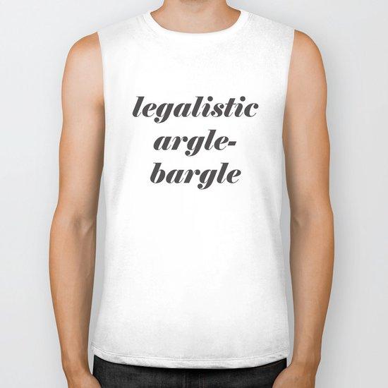 Legalistic Argle-Bargle Biker Tank