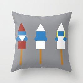 Popsicle Smurfs Throw Pillow
