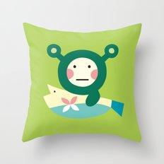 Shrekmon Throw Pillow