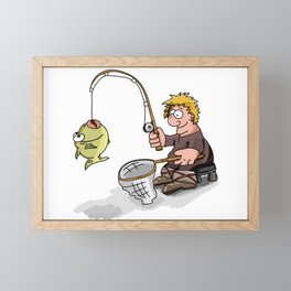 I Love Fishing Framed Mini Art Print
