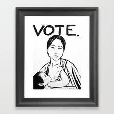 VOTE!!! Framed Art Print