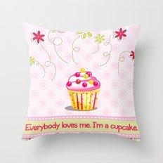 Cupcake Love Throw Pillow