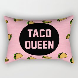 Taco Queen - pink Rectangular Pillow