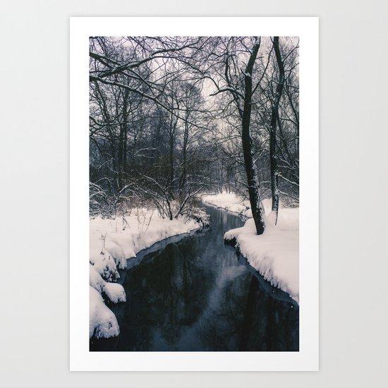 Almost frozen Art Print