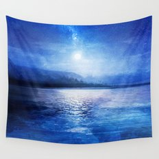Our secret blue space Wall Tapestry