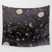 constellations Wall Tapestries featuring Constellations  by dreamshade