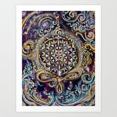 Gayatri - Creation Om Time Art Print