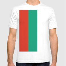 Flag of Bulgaria Mens Fitted Tee White MEDIUM