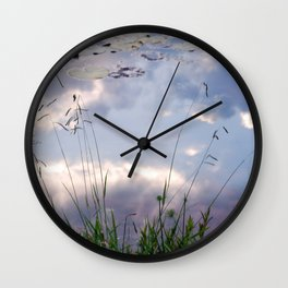 Reflections in a lake Wall Clock