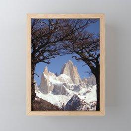 Fitz Roy Mountain Landscape (Patagonia, South America) Framed Mini Art Print