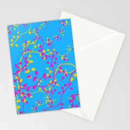 Pansexual Pride Twining Vines Pattern Stationery Cards