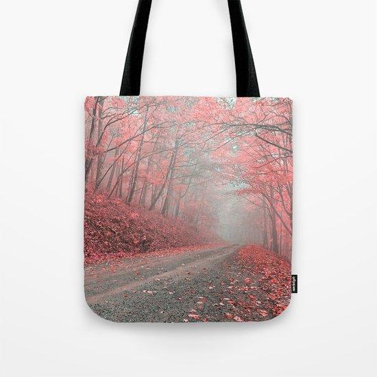 Misty Forest Road - Tickle Me Pink Tote Bag