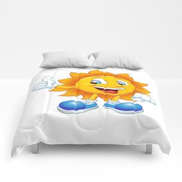 smiling sun cartoon Comforters