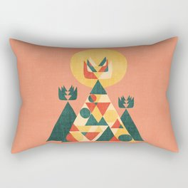 Sunset Tipi Rectangular Pillow