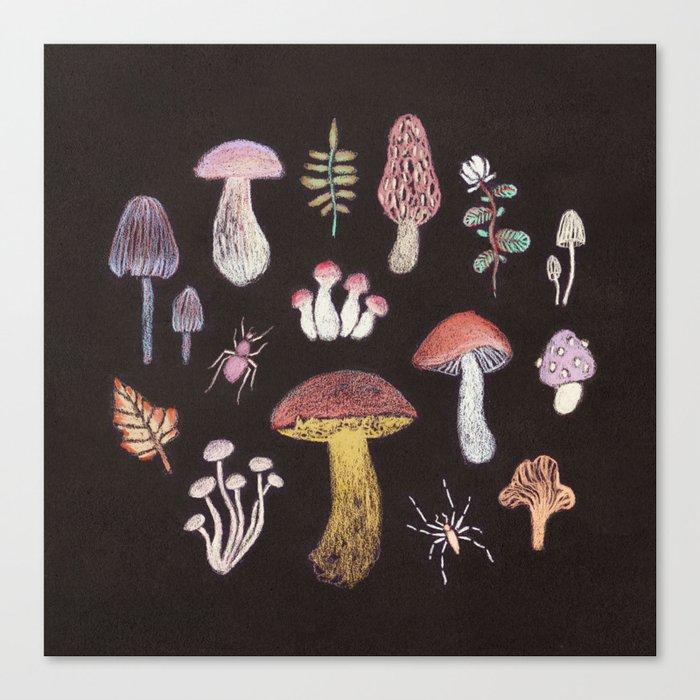 Mushrooms Leinwanddruck