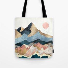 Golden Peaks Tote Bag