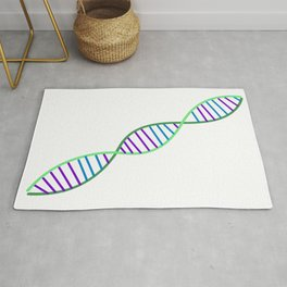 Double Helix DNA Strand Rug
