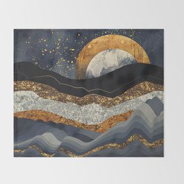 Metallic Mountains Throw Blanket