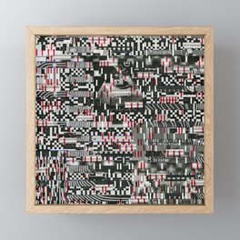 Comfortable Ambiguity (P/D3 Glitch Collage Studies) Framed Mini Art Print