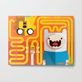Finn & Jake - PopGeometry #4 Metal Print