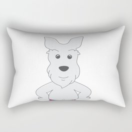 Airedale Terrier puppy in Traditional Tartan Costume - National Tartan Day Rectangular Pillow