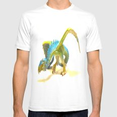Feather dragon White Mens Fitted Tee MEDIUM