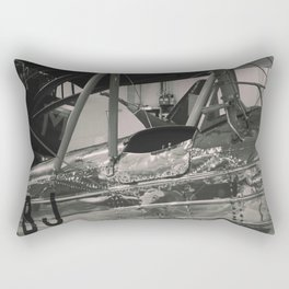 Vintage Aircraft Cockpit ( mono print) Rectangular Pillow