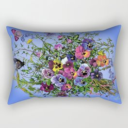 Pansy Delight Rectangular Pillow