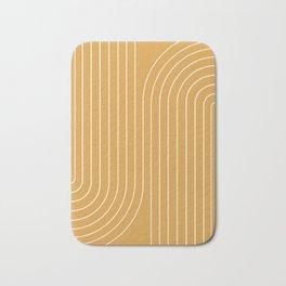Minimal Line Curvature - Golden Yellow Bath Mat
