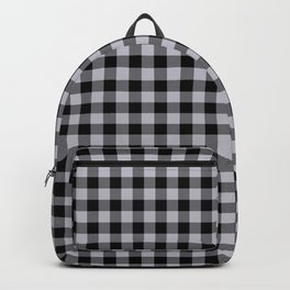 Grey Harbour Mist Gingham Check 2018 London Fashion Trends Backpack