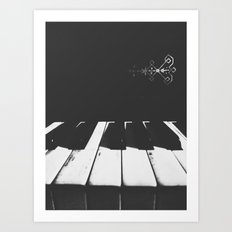 | Gloomy Sunday - Old piano sound | Art Print