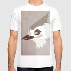 Tufted Titmouse MEDIUM White Mens Fitted Tee