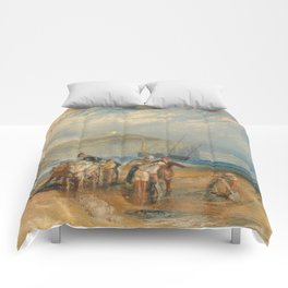 "J.M.W. Turner ""Folkestone Harbour and Coast to Dover"" Comforters"