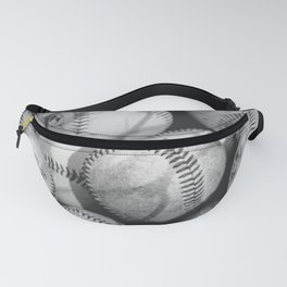 Baseballs in Black and White Fanny Pack