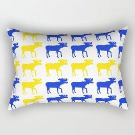 Graphic Swedish Moose Flag I Rectangular Pillow