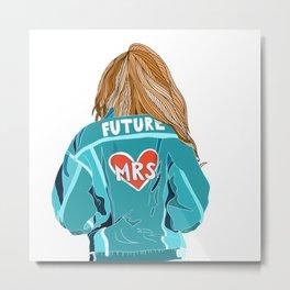Future Blonde Bride Metal Print