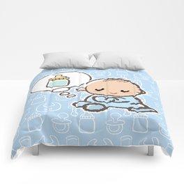 Baby boy Thinking of Milk Comforters