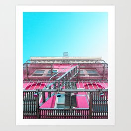 San Francisco Pink Building Look Up Art Print