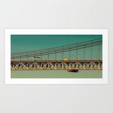 Bridge Lisbon Art Print