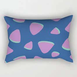 Abstract Graphic Pattern | Blue | Pink | Green Rectangular Pillow