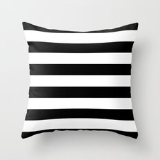 Stripe Black & White Horizontal Throw Pillow
