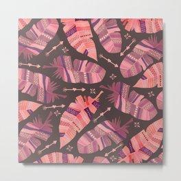Boho Rose Love Abstract Metal Print
