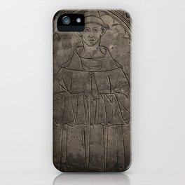 Monk mural iPhone Case