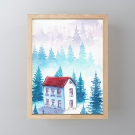 Foggy Forest #8 Framed Mini Art Print
